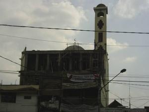 Mesjid Risalah (Markaz PD. Persis Kota Bandung) waktu masih renopasi